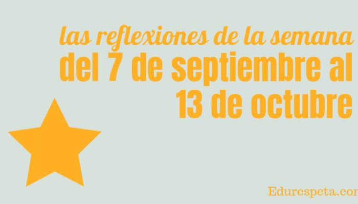 Frases semana del 7 al 13 de octubre
