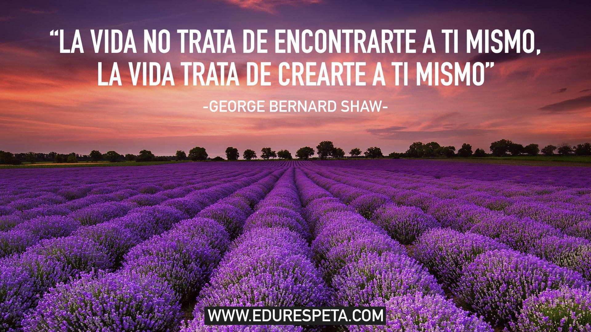 La vida no trata de encontrarte a ti mismo, la vida trata de crearte a ti mismo
